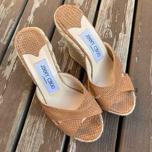 Jimmy Choo Espadrille Wedge Shoes